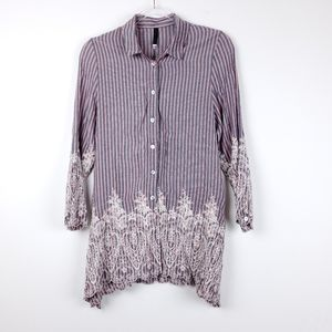 3/25$ dressy casual embroidered button down